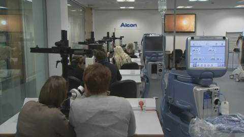 Alcon is looking to the future by investing £4 billion pounds in R&D in the next 5 years