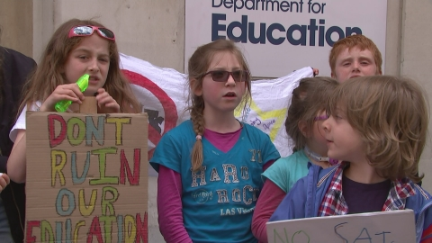 Parents keep children off school in SATs protest