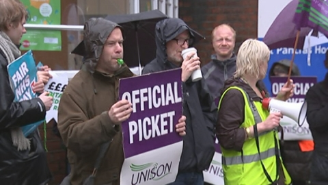 Round up from strike action