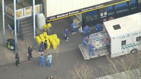 British healthcare worker with Ebola arrives back in UK