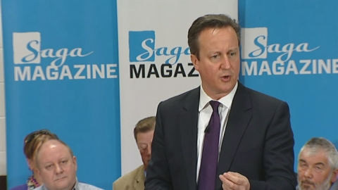 David Cameron talks pension politics
