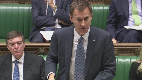 Hunt: Despite financial pressure NHS funding has increased