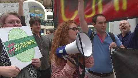Protests over Southern rail service cuts