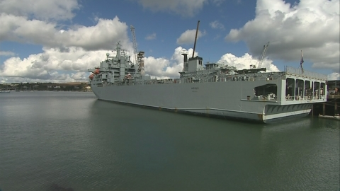 RFA Argus prepares for departure to Sierra Leone
