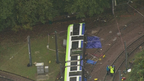 Fatalities as tram derails in Croydon
