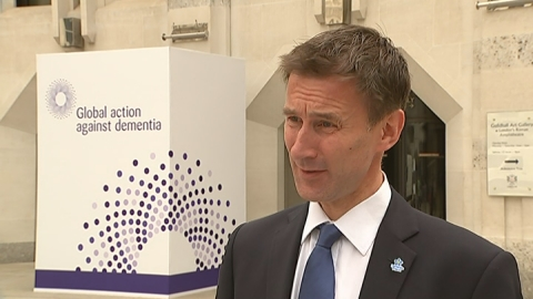 Jeremy Hunt says more needs to be done to tackle dementia