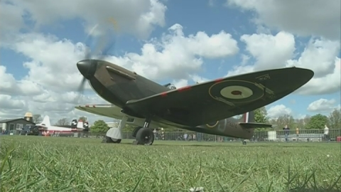 Rare Spitfire restored for charity auction