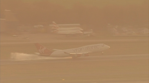 Virgin Atlantic plane lands safely at UK airport after fault