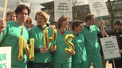 Green Wing actors join junior doctors' on picket line
