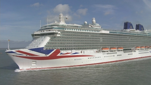 New liner Britannia shown off in Southampton