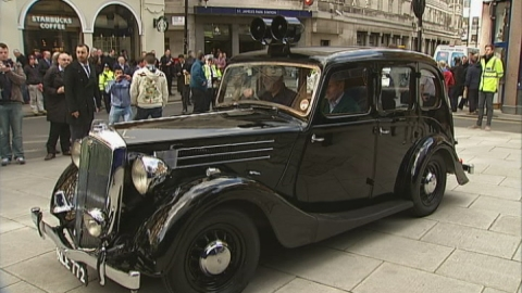 Classic police vehicles on show