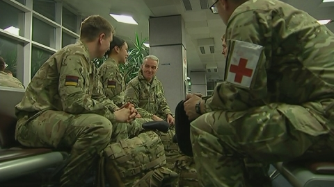 UK soldier says troops tackling Ebola will be 'pretty safe'