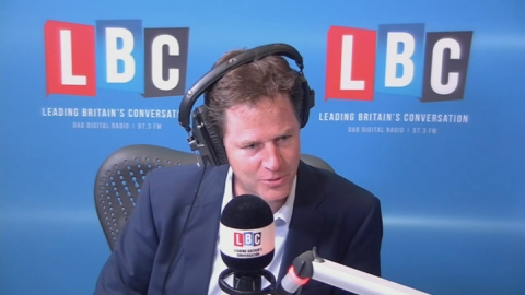 Clegg gets a grilling from a 9-year-old over school lunches