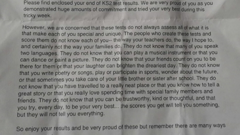 School's KS2 'proud' letter to pupils goes viral