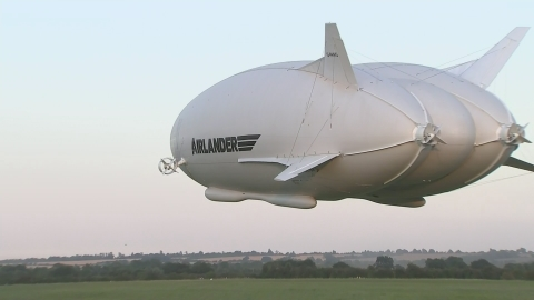 World's largest aircraft the Airlander takes first flight