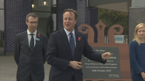 Cameron: 'The first of many' as new railway line opens