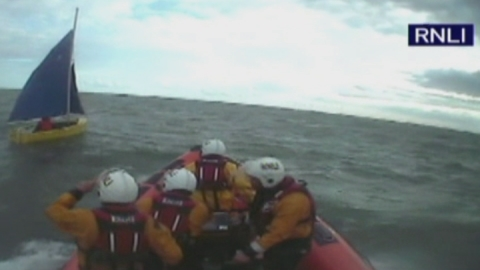 Man rescued trying to sail to US in £300 dinghy
